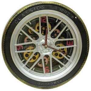 Tekerlek Tasarımlı Duvar Saati
