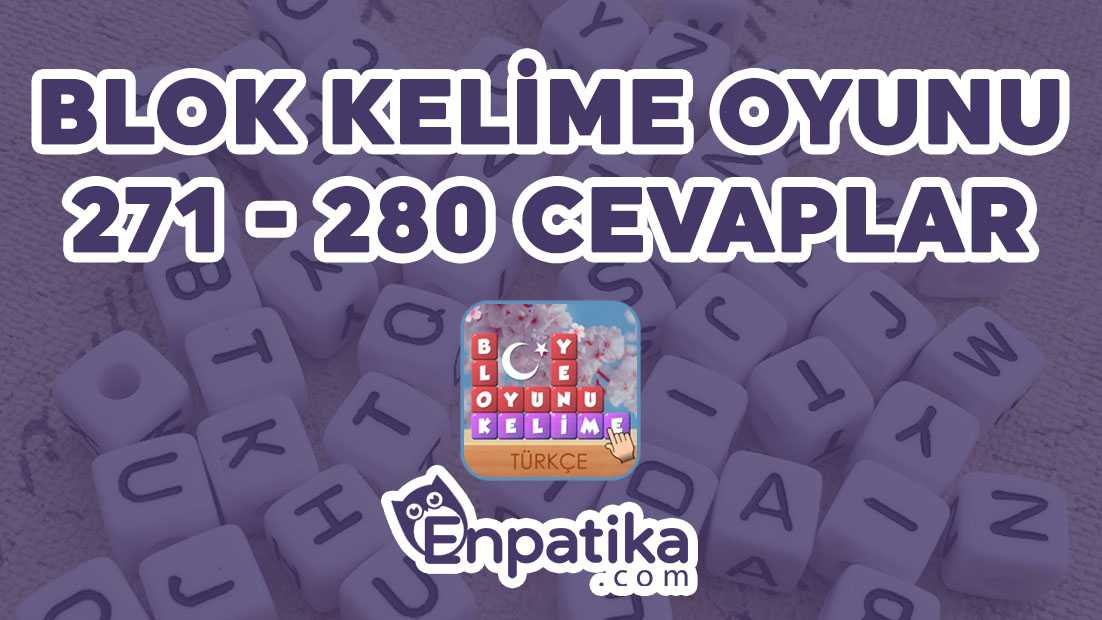 Blok Kelime Oyunu 271 - 280 Cevapları