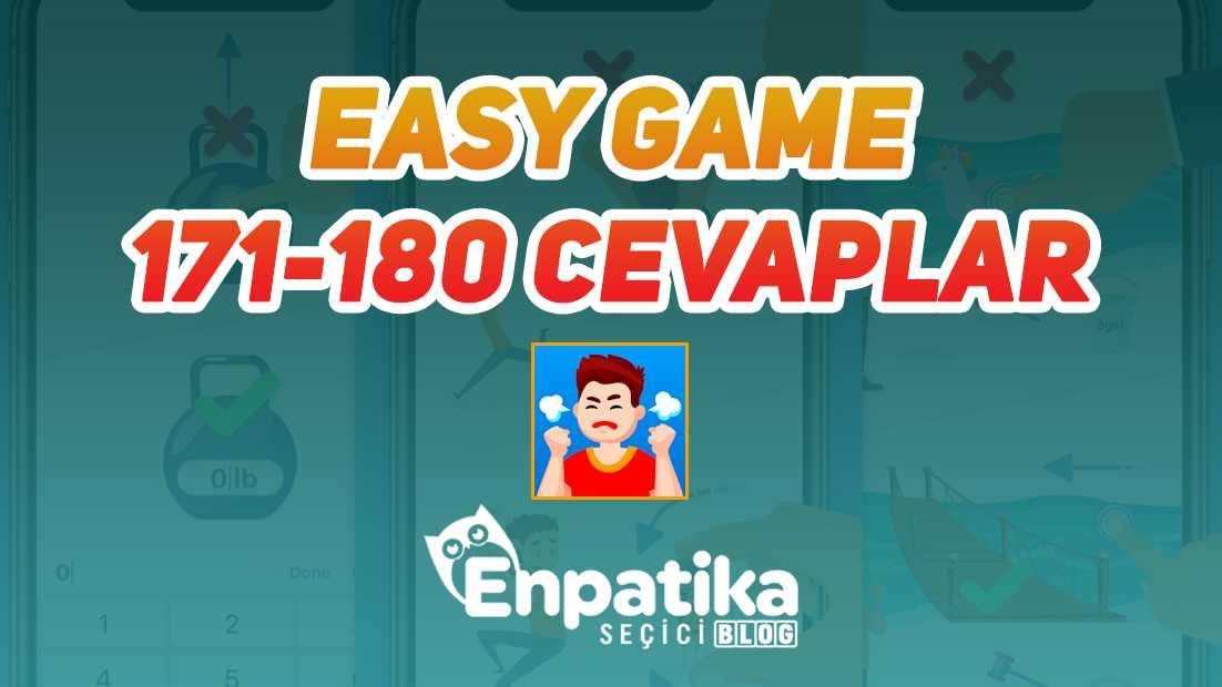 Easy Game 61 - 70 Cevapları
