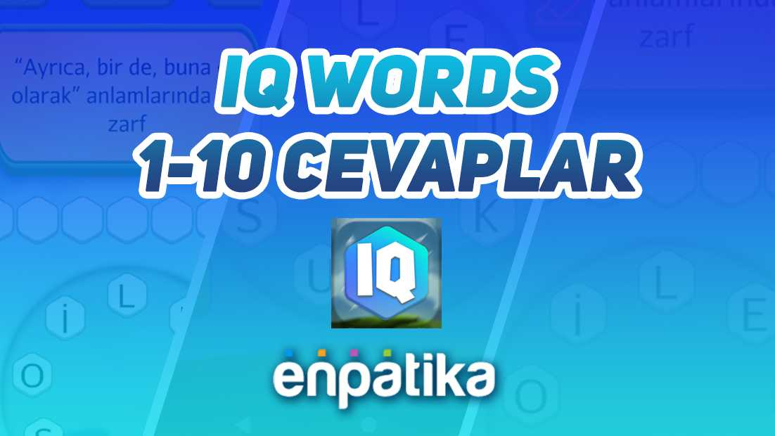 IQ Words Cevapları
