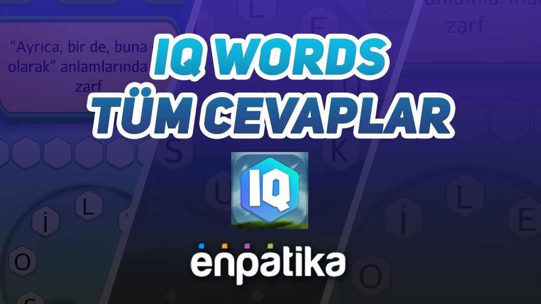 IQ Words Tüm Cevaplar