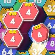Cat Cell Connect - Merge Number Hexa Blocks